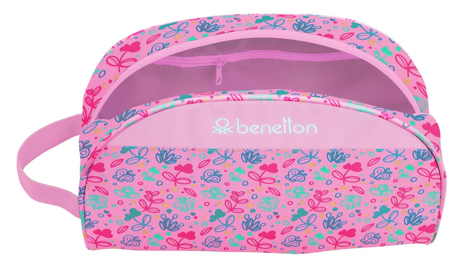 BENETTON Pink Butterflies Toiletry Bag Beauty Case – image 3