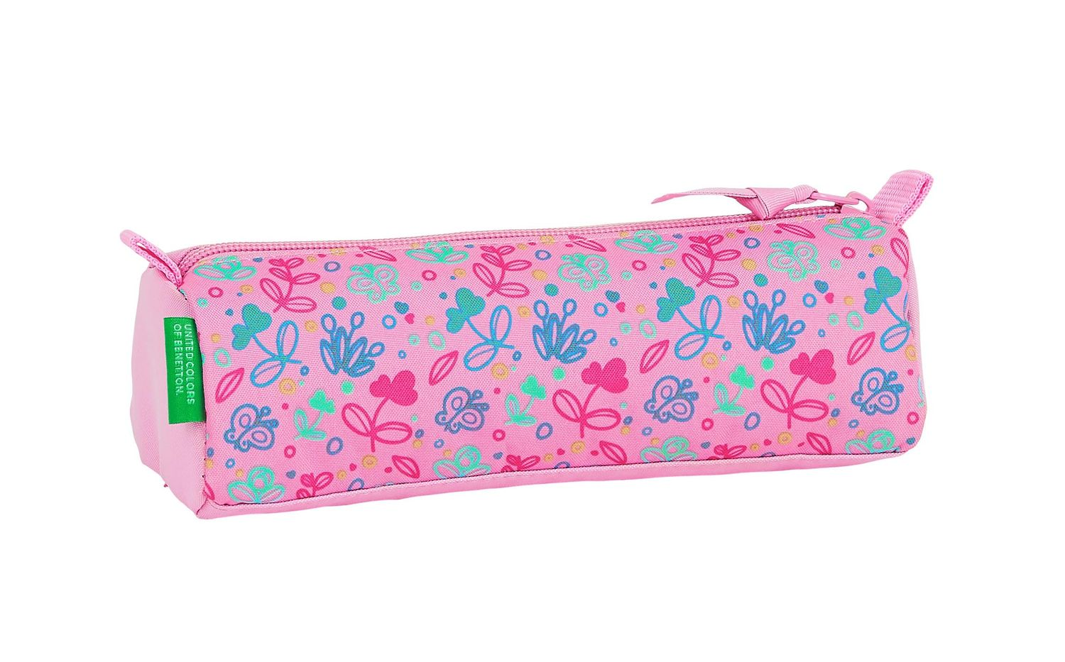 BENETTON Pink BUTTERFLIES Square Pencil Case – image 2
