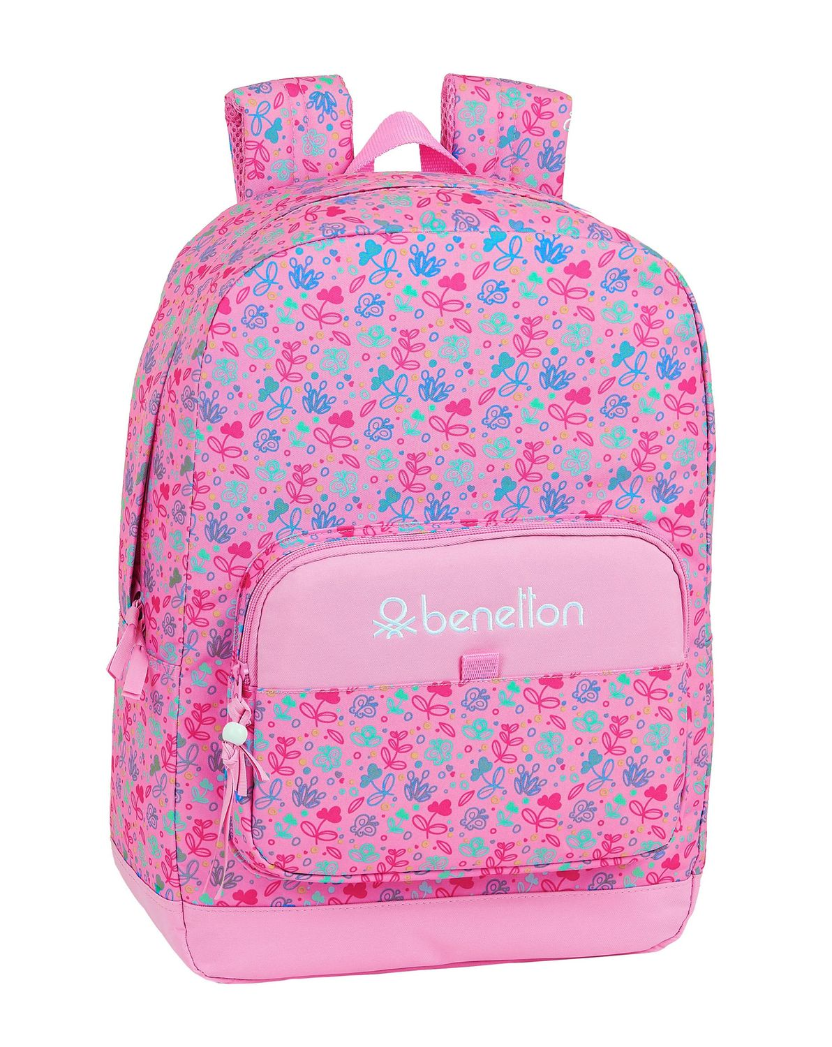 BENETTON Pink BUTTERFLIES Backpack Rucksack 43 cm – image 1
