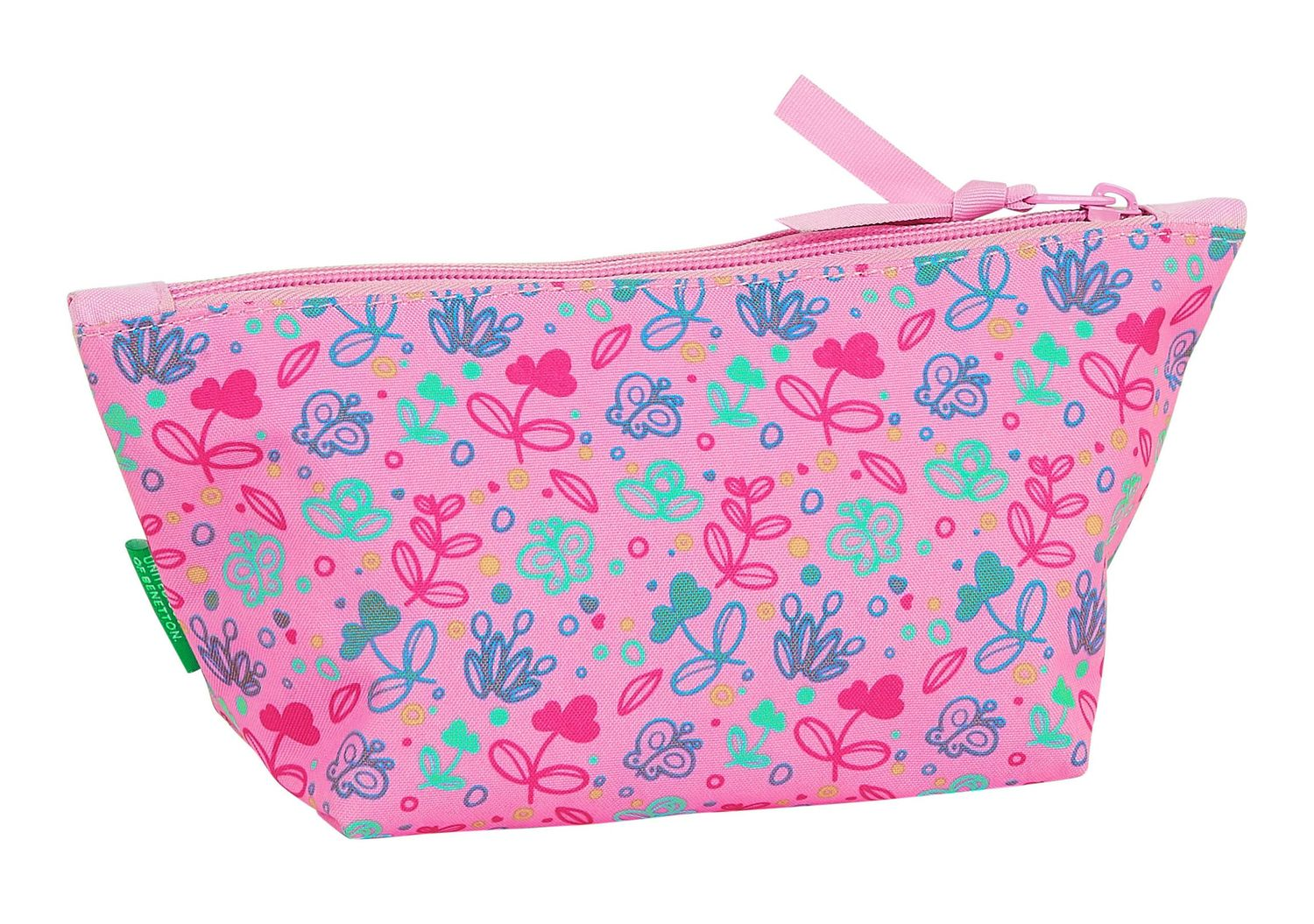 BENETTON Pink Butterflies Make Up Toiletry Bag – image 2