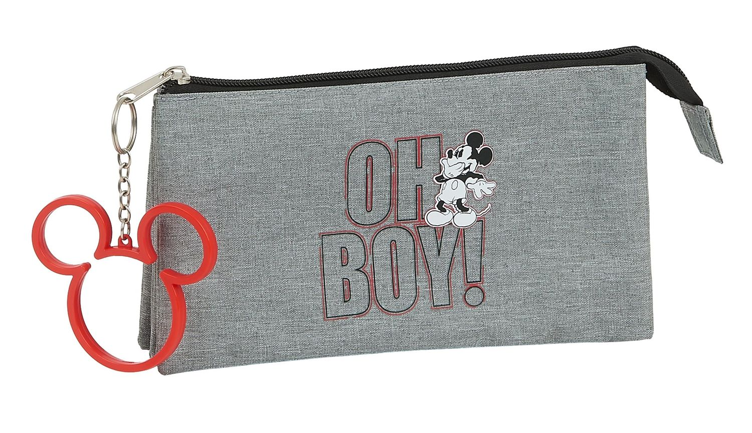 MICKEY MOUSE OH BOY Triple Pencil Case – image 1