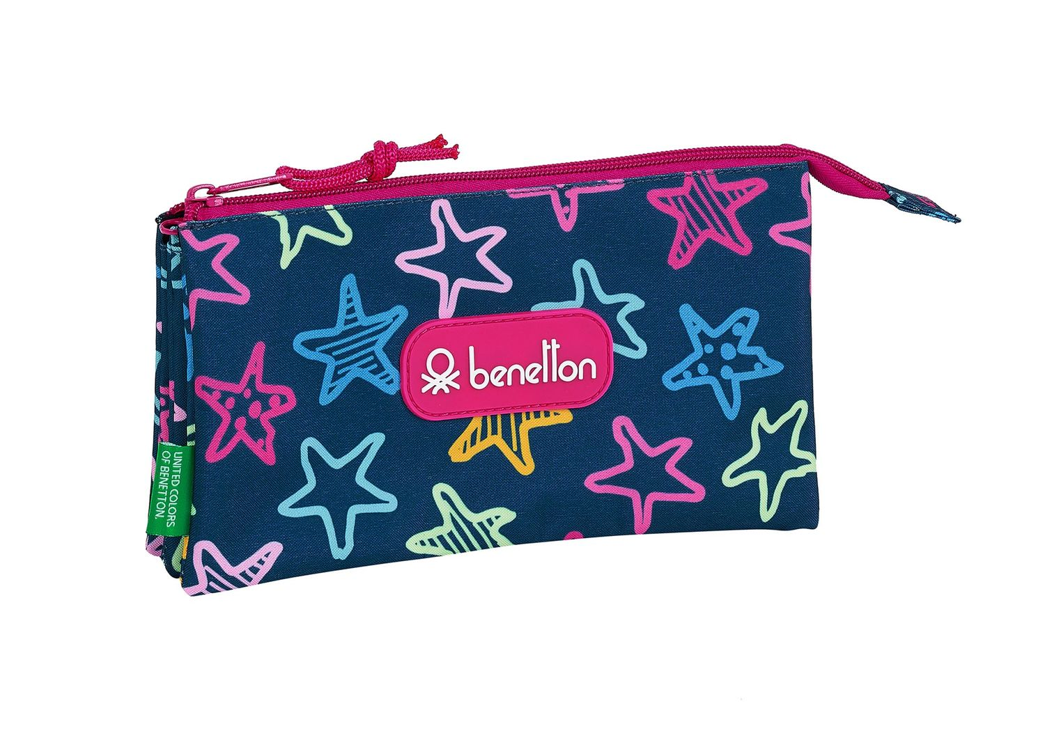 BENETTON STARS Triple Pencil Case – image 1