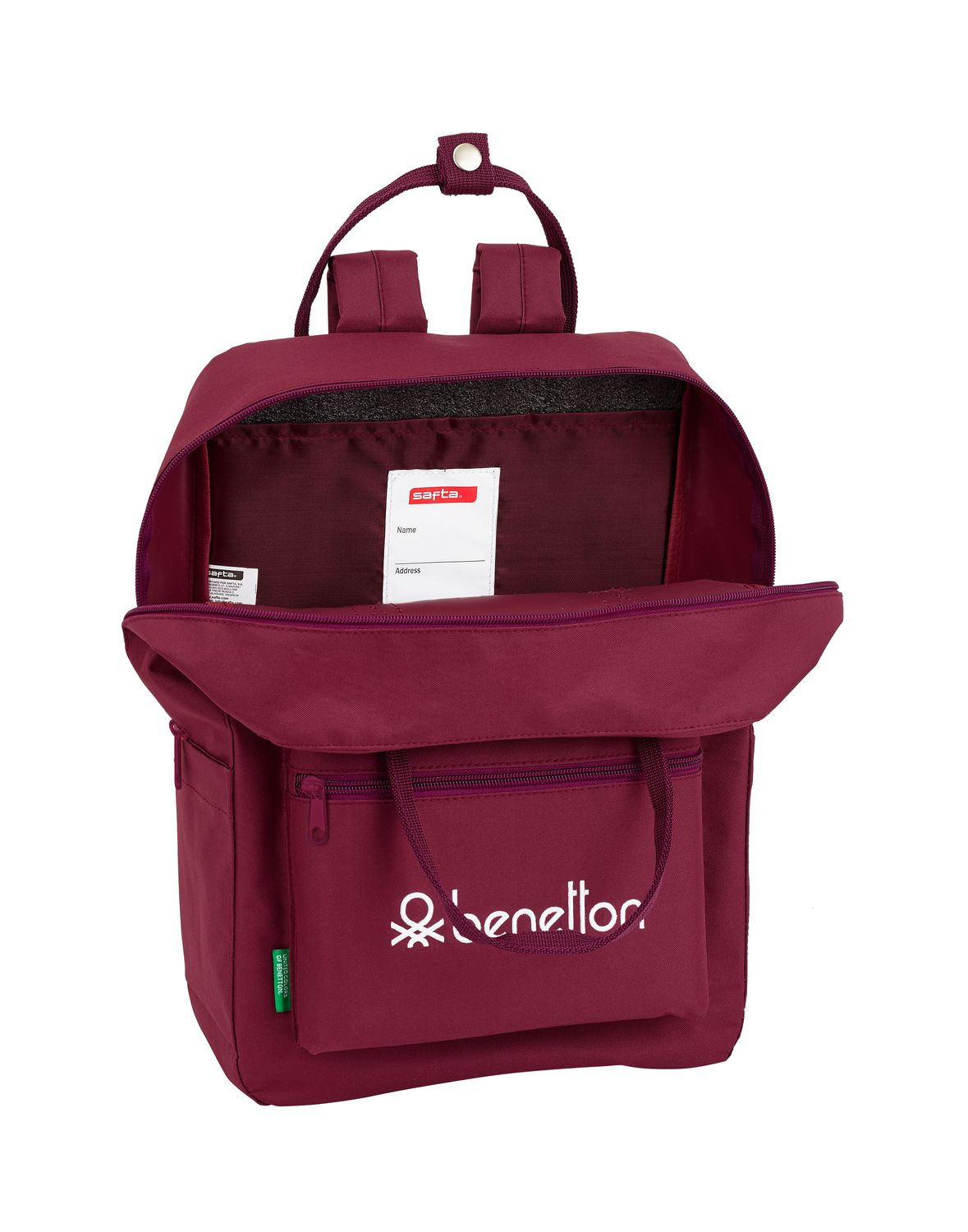 BENETTON BURGUNDY Backpack with handles 38 cm – image 2
