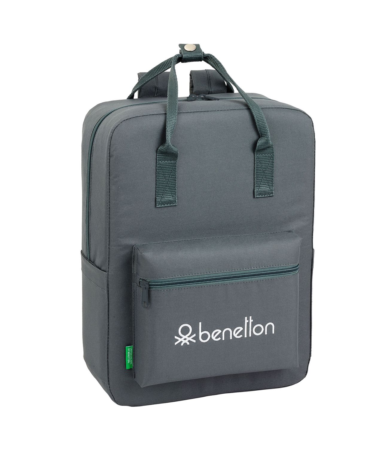 BENETTON GREY Backpack with handles 38 cm  – image 2