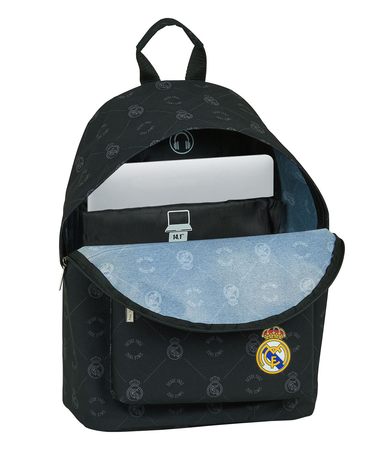 "REAL MADRID BLACK Laptop Backpack 14,1"" 41 cm – image 2"