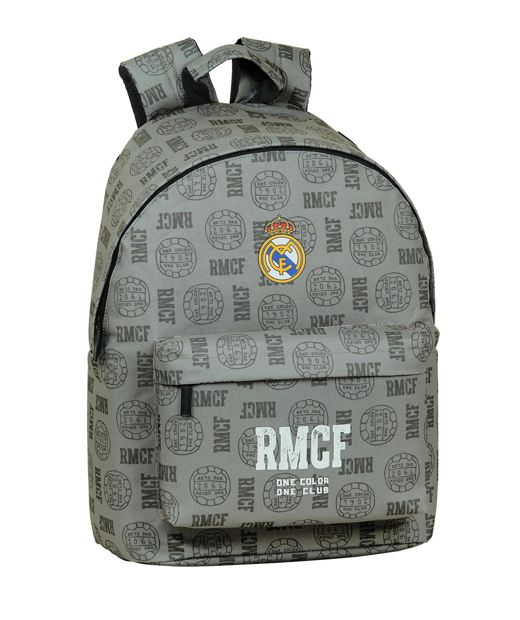 Details about REAL MADRID GREY Laptop Backpack Media Rucksack Travel School Bag 14,1