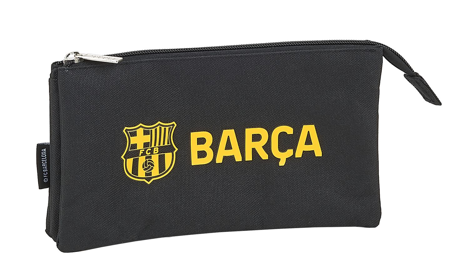F.C. BARCELONA BLACK Triple Pencil Case – image 1