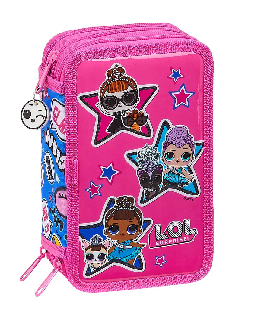 LOL Surprise TOGETHER 3 Tier Pencil Case Filled with 36 Piece – image 1
