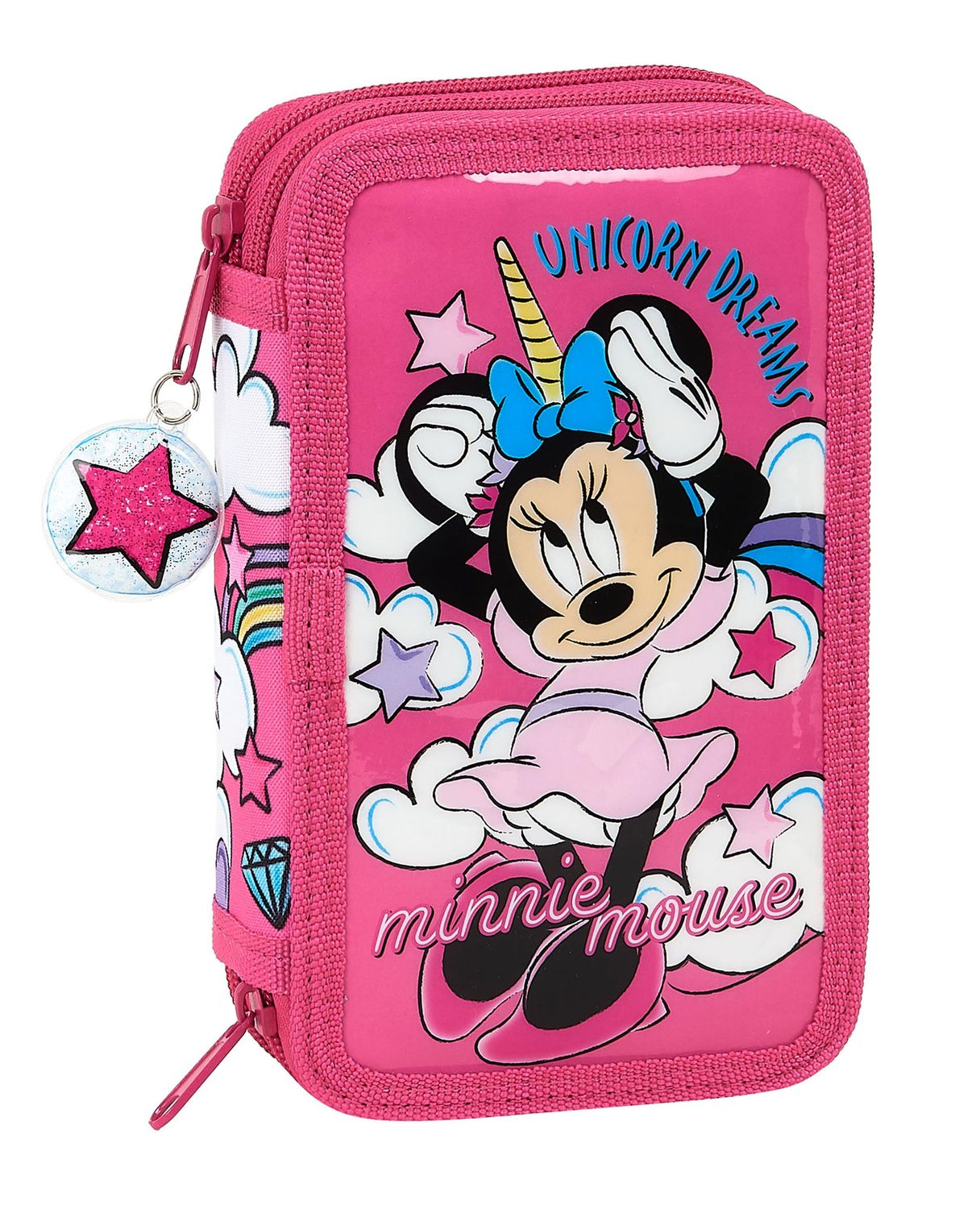 Minnie Mouse UNICORN Double Tier Pencil Case Filled with 28 Piece – image 1