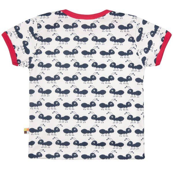 loud + proud Shirt Ameisen blau Kurzarm – Bild 2