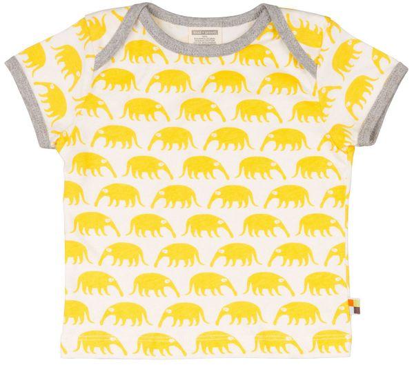 loud + proud Shirt Ameisenbären gelb Kurzarm – Bild 1