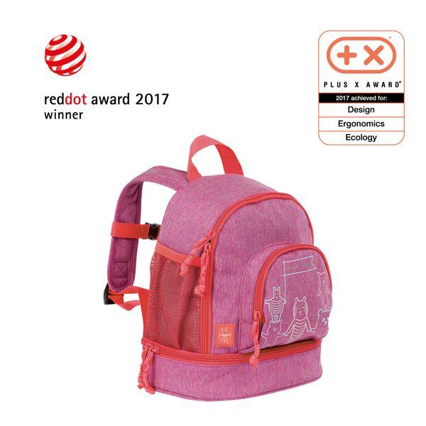 Lässig Kinderrucksack - Mini Backpack, About Friends Mélange Pink – Bild 1