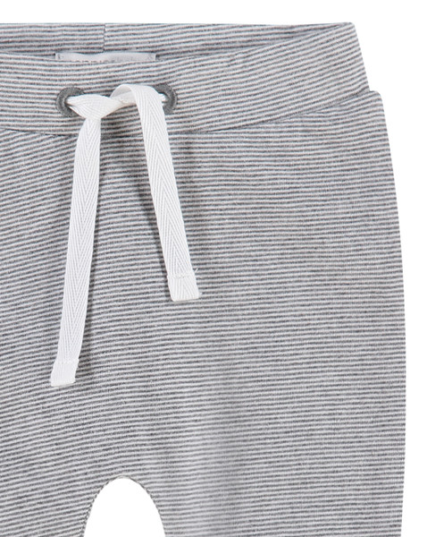noppies baby Hose Jersey Grau/Weiß – Bild 2