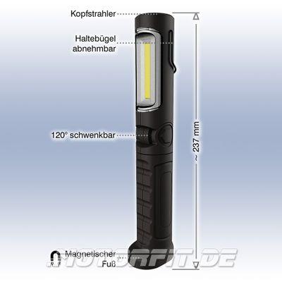 KUNZER AKKU LED Handleuchte / ARBEITSLAMPE Li-Ion Schwenkbar - Schwarz PL-023.2 PL 023 pl23
