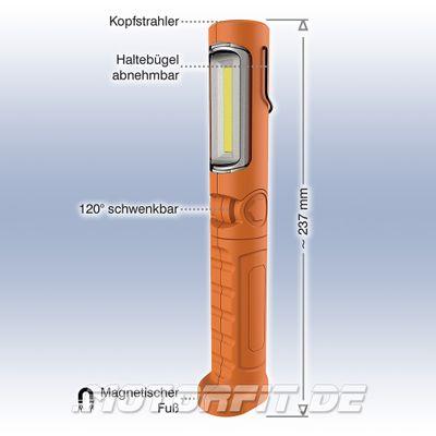 KUNZER AKKU LED Handleuchte / ARBEITSLAMPE Li-Ion Schwenkbar - Orange PL-023 PL 023 pl23