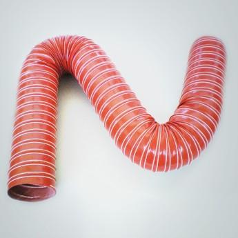50'er Heissluft-/Heizungs-/Abgas-Schlauch L1m x Ø 50mm, max. 300°C, schwarz rot – Bild 2