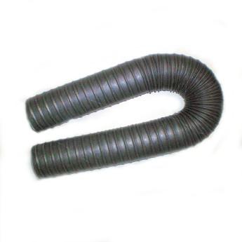 80'er Heissluft-/Heizungs-/Abgas-Schlauch L1m x Ø 80mm, max. 300°C, silbergrau – Bild 2