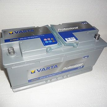 Varta Professional DC AGM LA105 12V 105 Ah Batterie, kompakte Masse extrem flach!