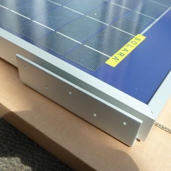 Solar Profi Haltewinkel Dachsicken Montage von Solarmodulen - Silber Set 4 Stück / 12 Schrauben VA