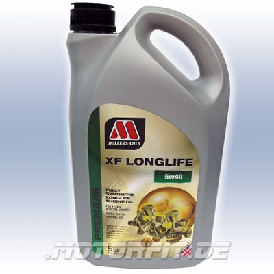 MILLERS XF LONGLIFE 5w40 Motorenöl Benziner & Diesel, vollsynthetisch - 5L Kanister