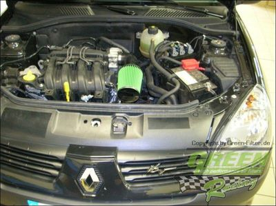 GREEN Direct-Kit - P563 - RENAULT CLIO 2 1,2L i 16VBj.: 07/04>0575 PS / 55 kW