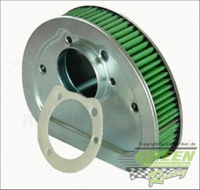 GREEN Bike Filter - MHD0459 - HARLEY DAVIDSON CARBURETED (TWIN CAM ENG.) - 1450ccm - Bj.: 99->00