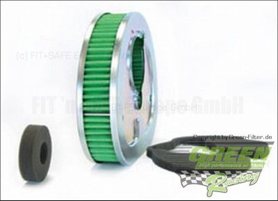 GREEN Bike Filter - MHD0470 - HARLEY DAVIDSON CARBURETED (EVOLUTION ENG.) - 1340ccm - Bj.: 90->99