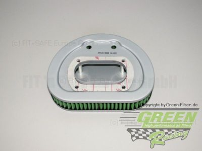 GREEN Bike Filter - MHD0566 - HARLEY DAVIDSON FLHRI ELECTRA GLIDE ROAD KING F/I - 1450ccm - Bj.: 00->01