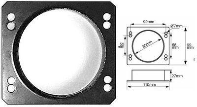 GREEN Anschraub-Adapter 85mm