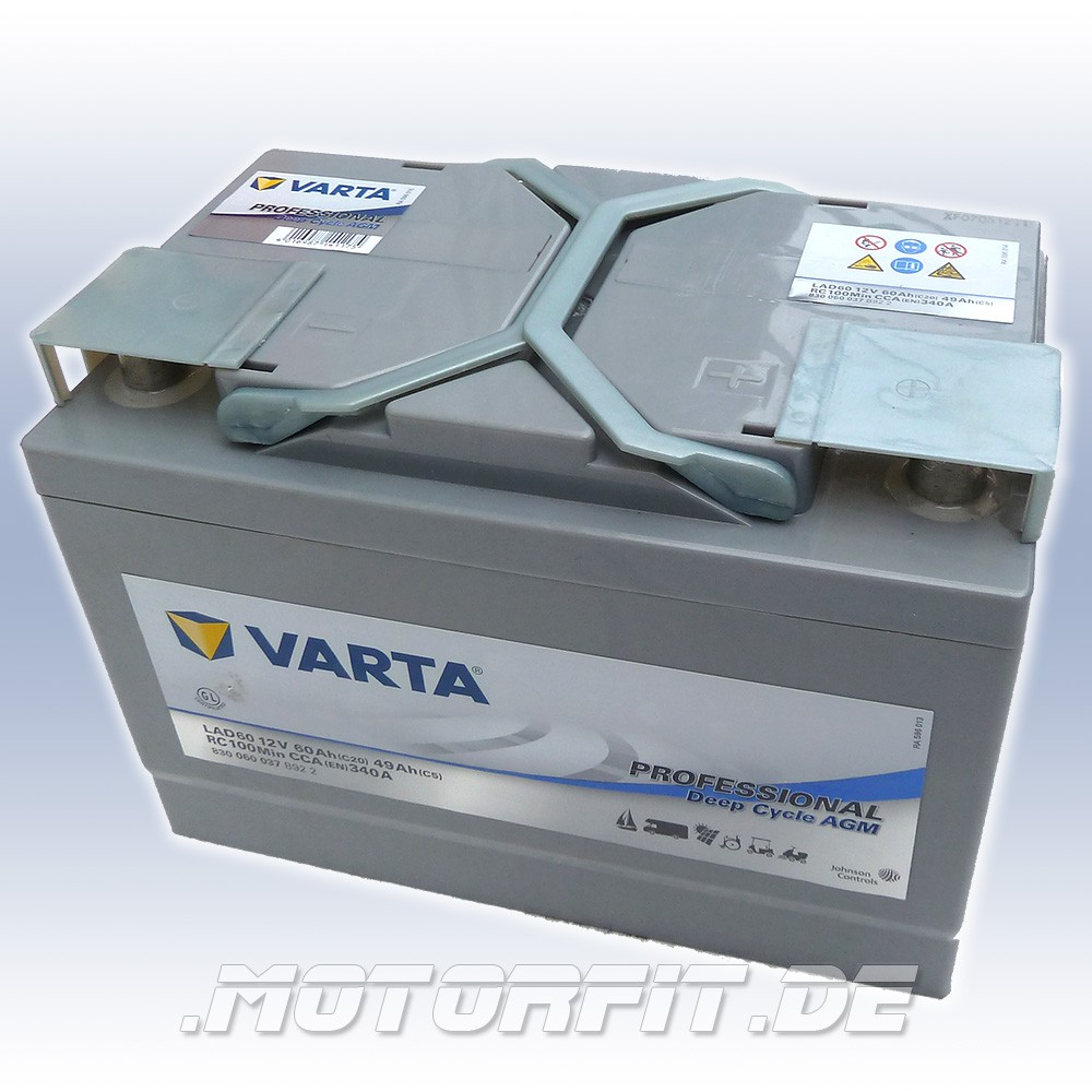 varta professional dc agm lad60 12v 60 ah batterie. Black Bedroom Furniture Sets. Home Design Ideas