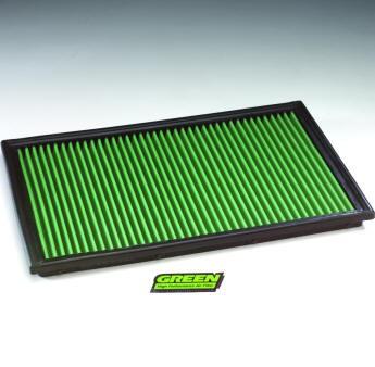 GREEN Austauschfilter - P960132 - für RENAULT - Twingo I - 1.2i (Plattenfilter 360mm Länge)  - Baujahr: 8/04 > 6/07 - 60/75 PS - 33-2925
