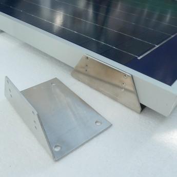 Solara Profi Haltewinkel HSP -6 Stück Montage von Solarmodulen, Metallwinkel, komplett mit Edelstahl-Befestigungsschrauben.