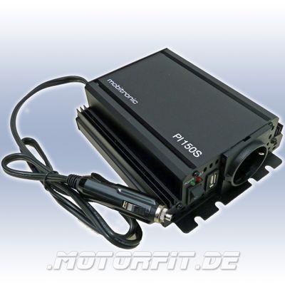 WAECO mobitronic Wechselrichter Inverter Spannungswandler PI 150S 12V 150W, reiner SINUS! MSI