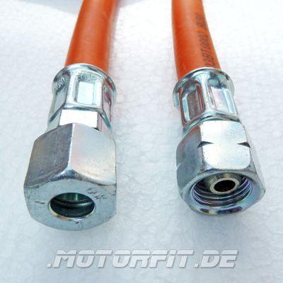 Mitteldruck-Schlauchleitung Gummi PS 10 bar - 400mm RVS