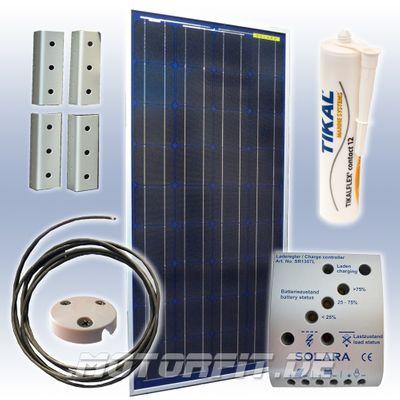90W (12V) Solar-Profi-Spar-Set / Solaranlage Set