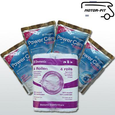 "Waeco - Dometic PowerCare Tabs 4er-Vorteilspack - 80 Stück ""Wohnklo-Tabs"" + 4 Rollen Toilettenpapier"