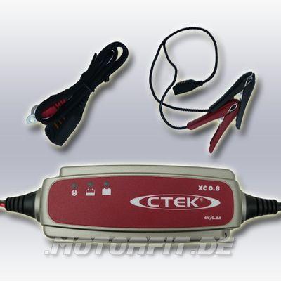 CTEK XC 0.8 - 6V/0,8A Ladegerät - lädt und wartet 6V-Batterien von 1,2-100Ah – Bild 2