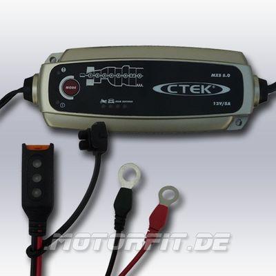 CTEK MXS 5 Plus Ladezustandsanzeige mit Ringösen M8