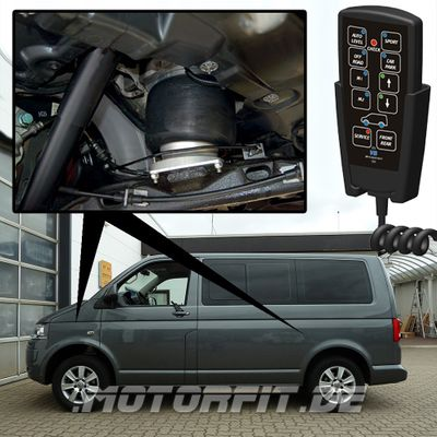 Luftfederung für Volkswagen Transporter - T5 2003-2015 - 3,2t Maxi +30mm (Erhöhungskit) Vorderachse & Hinterachse Voll-Luftfederung – Bild 1