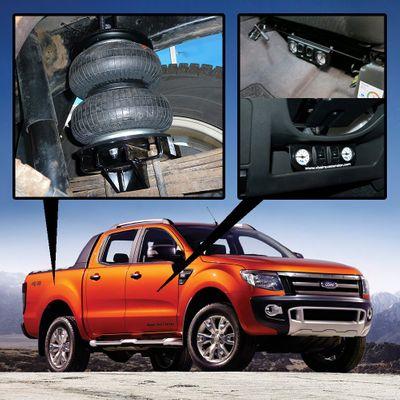 Luftfederung für Ford Ranger - T6 4x4 2011 -heute - Hinterachse - Comfort-Camping-Kit mit Kompressor/Bedienteil – Bild 1