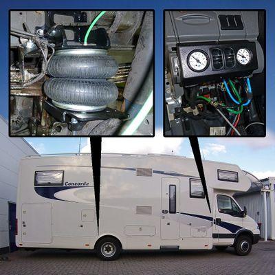 Luftfederung für Iveco Daily - 35C LC 2006-2013* - Hinterachse - Comfort-Camping-Kit – Bild 1