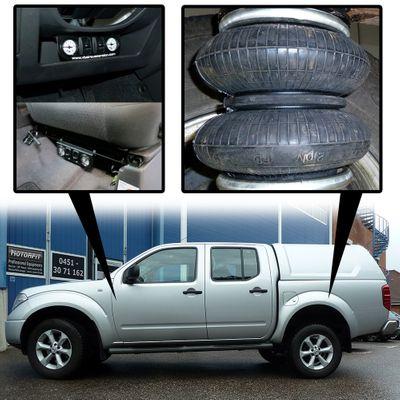 Luftfederung für Nissan Navara - D40 / D401 2004-2015 - Hinterachse - Comfort-Camping-Kit – Bild 1