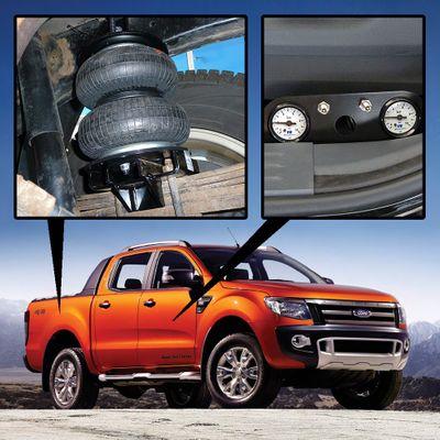 Luftfederung für Ford Ranger - T6 4x4 2011 - heute - Hinterachse - Basis-Kit Plus mit Manometer/Anzeige – Bild 1