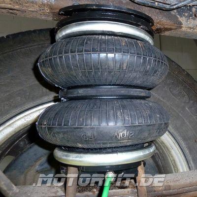 Luftfederung für Nissan Navara - D40 / D401 2004-2015 - Hinterachse - Basis-Kit Plus mit Manometer/Anzeige – Bild 2