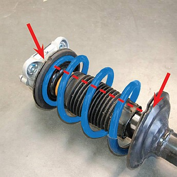 verstärkte Zusatzfedern für Citroen Jumper - X250 2006-heute - Hinterachse -  – Bild 2