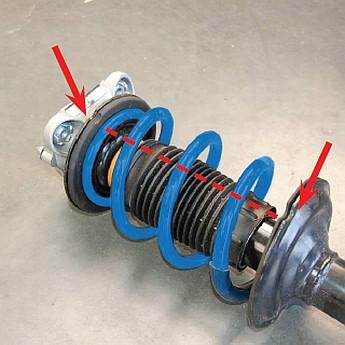 """verstärkte Zusatzfedern für Citroen Jumper X250 """"Heavy"""" ab 1850kg 2006-heute - Vorderachse - deutliche Erhöhung der Federkraft (6cm) – Bild 2"""