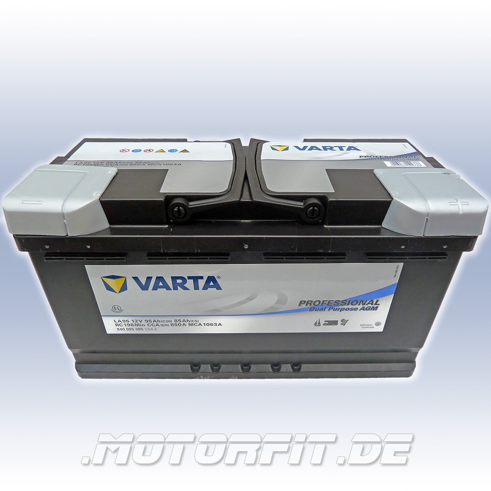 varta professional dc agm la95 12v 95 ah batterie. Black Bedroom Furniture Sets. Home Design Ideas