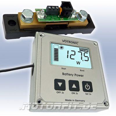 VOTRONIC LCD Batterie Computer 100 S - 200 S - 400 S Smart Shunt + Aufbaugehäuse – Bild 1