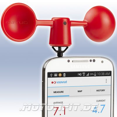 Vaavud Mjolnir VAV-1R Smartphone Windmesser rot Handy iPhone Wind Meter NEU – Bild 1