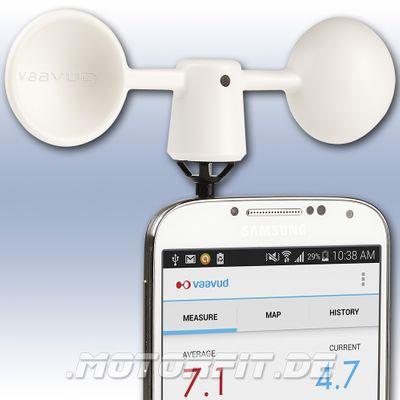 Vaavud Mjolnir VAV-1R Smartphone Windmesser weiß Handy iPhone Wind Meter NEU – Bild 1